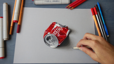 Jumping off the page: Life-like 3D drawings that are so realistic you'll do a double take