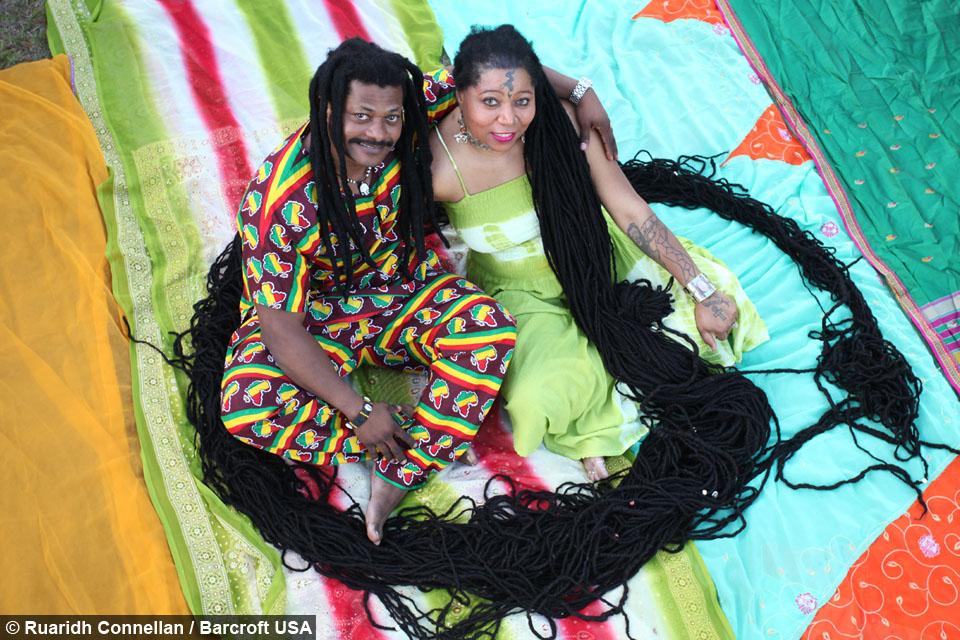 Newly Dreads Woman With Worlds Longest Dreadlocks Marries Rasta