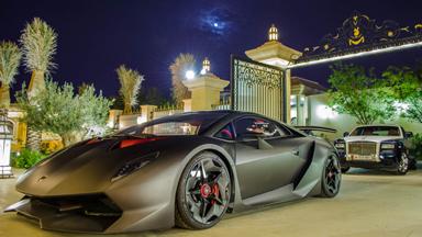 Luxury car collector shows off $3 Million Lamborghini