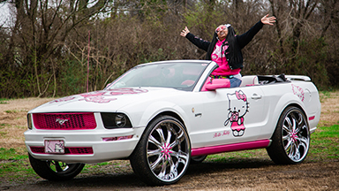 The Hello Kitty Mustang