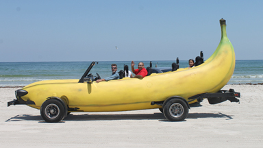 Gone Bananas: Inventor Turns Pick-Up Truck Into Driveable Banana