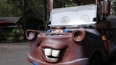 Disney Fan Builds Pixar's 'Mater' From Golf Cart