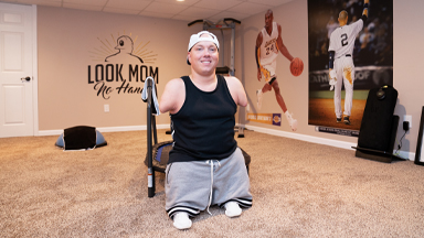 Father With No Arms Or Legs Gets Fit At Home