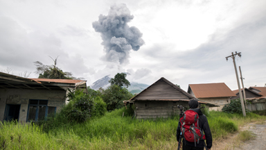 The Eerie Ghost Town That Lies Beneath Mount Sinabung