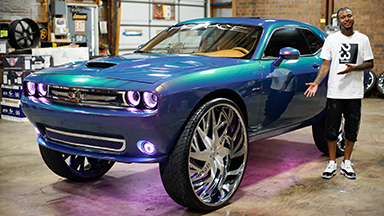Pimped Dodge Challenger Boasts MASSIVE 34-Inch Rims