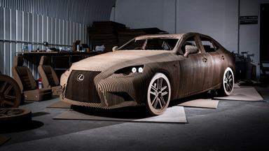 Box Fresh: Brand New Lexus Is Made Of Cardboard