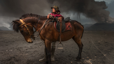 Tenggerese Horsemen navigate around active volcanoes with ease