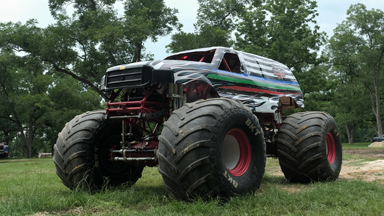 10,000lb Monster Truck Attempts Dangerous Stunt
