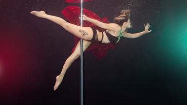 Aqua-batic: Underwater pole dancing