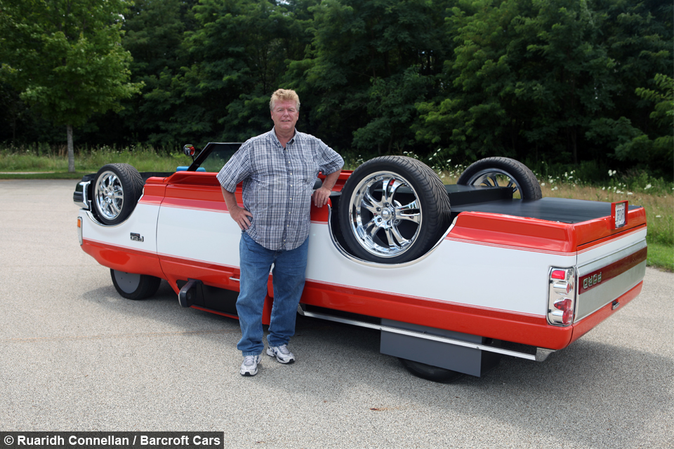 Unique Upside Down Truck Looks Like A Flipped Over Vehicle