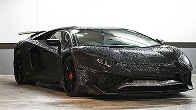 Lamborghini Covered In Two Million Crystals