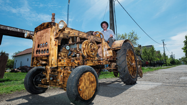 Branching out: Man Builds Tractor Made Of Wood