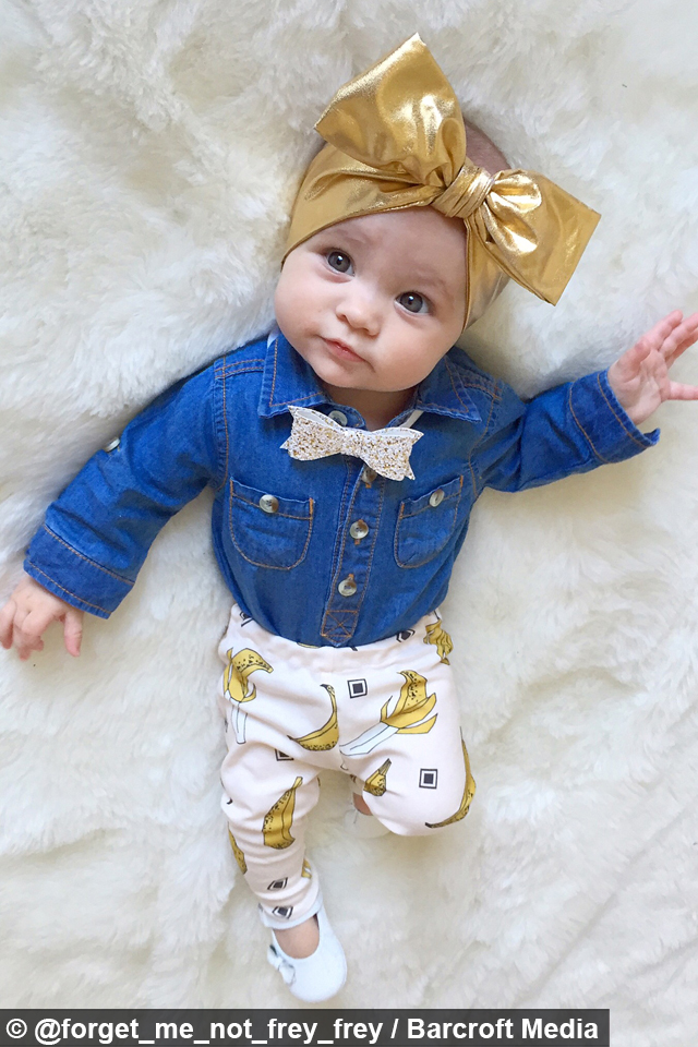 Instagram S Best Dressed Baby Fashion Forward 8 Month Old Becomes