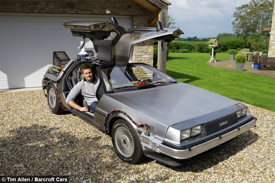 GREAT SCOTT! Back To The Future Superfan Owns Real-Life DeLorean ...