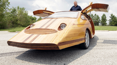 Woody Races: Artist's Tree-mendous Car Creations