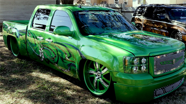 GMC Sierra Converted Into Insane 'Green Envy'
