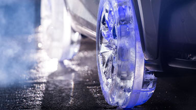 Cool Runnings: Car Firm Build The World's First Tyres Made Of Ice