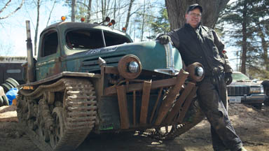 Man Builds 'Tankenstein' from WW2 Tank