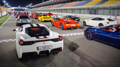 Qatari petrol-heads put Ferraris through their paces