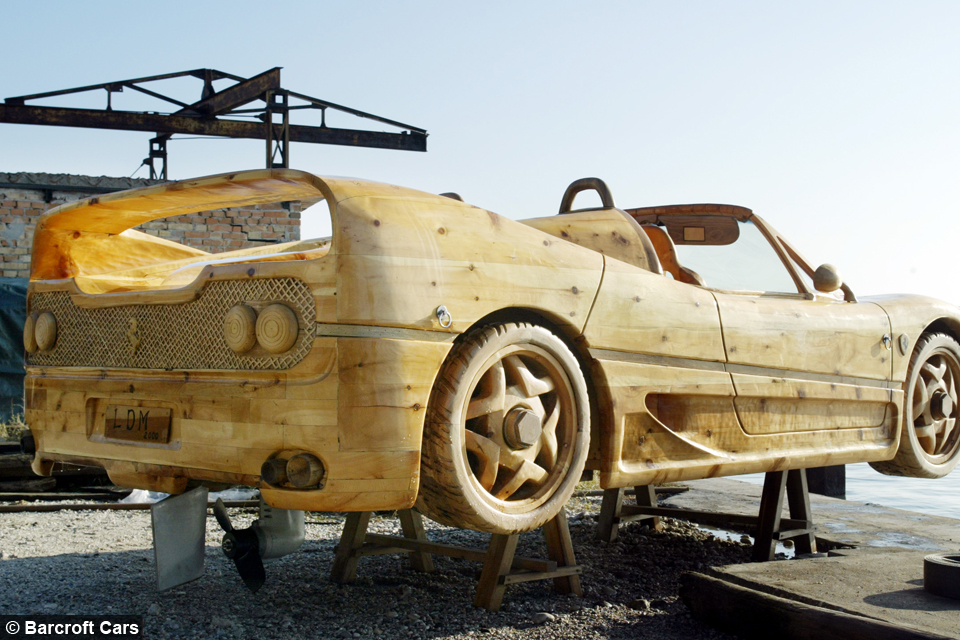 Wood you believe it Floating Ferrari Made From Pine
