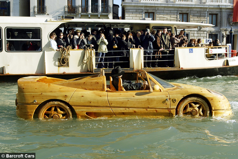 Wood you believe it: Floating Ferrari Made From Pine