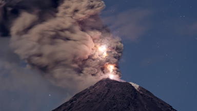 Filmmaker Captures Rare Footage Of Lightning Generated By Volcanic Eruption