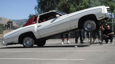 Hydraulic Lowriders Defy Gravity