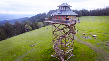 Our Fire Tower House In The Sky