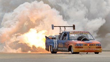 Fire-Starter: Explosive Jet-Powered Chevy Can Hit Nearly 400mph