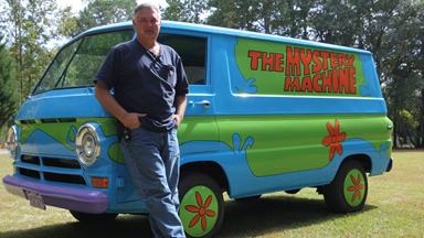 Movie Buff Builds Scooby Doo's 'Mystery Machine'