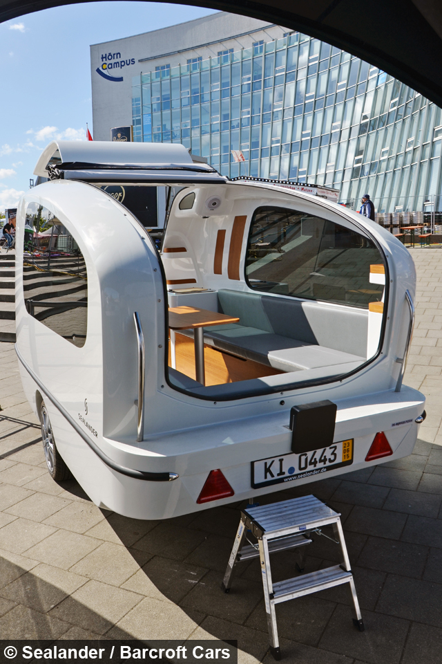 Ultimate glamping the caravan that floats like a boat Sealander caravan