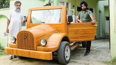 Tree-mendous: Carpenter Builds Road Ready Car Out of Wood