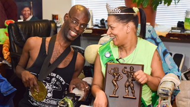 Champion Bodybuilding Couple with Cerebral Palsy