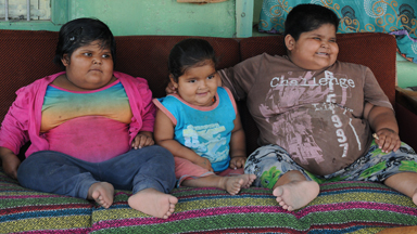 Uncontrollable appetite: Three obese children battle eating disorder