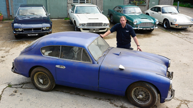 Barn Find Rare Aston Martin Found In Storage After Years - Aston martin restoration project for sale