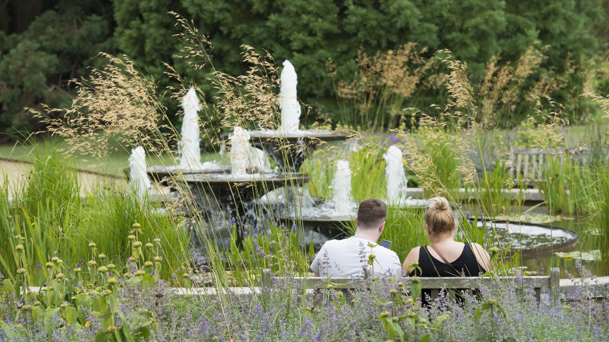 Visitors can enjoy our varied landscape including the iconic fountain, designed by David Mellor (1930-2009).