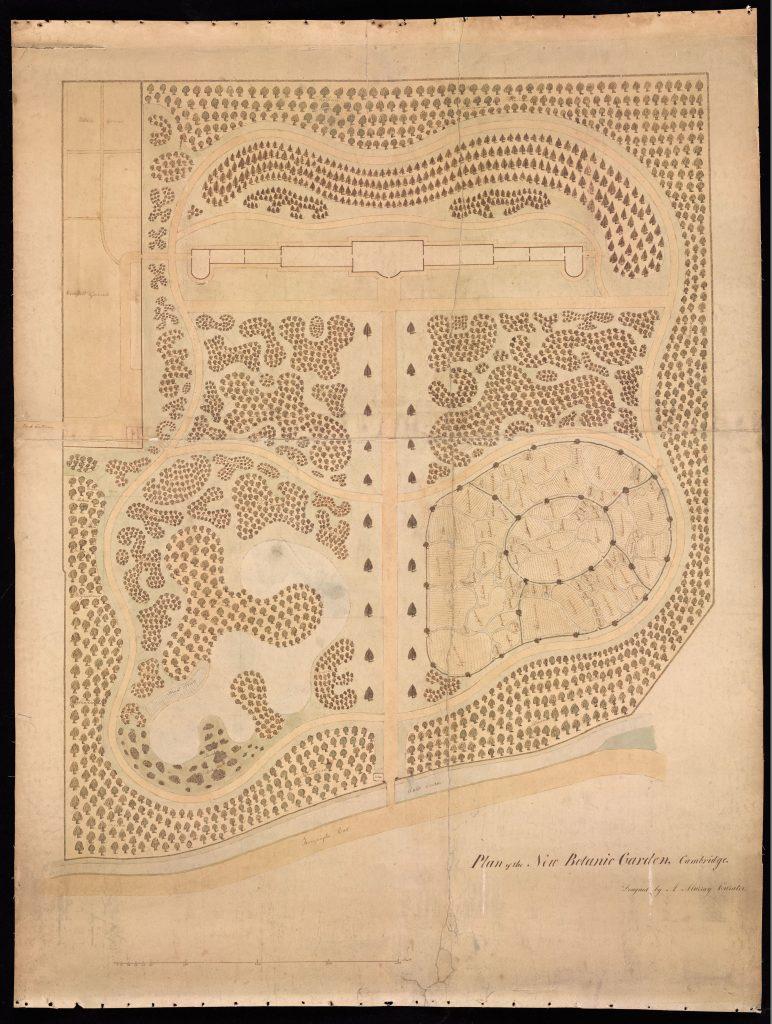 Murray's original map of the Garden