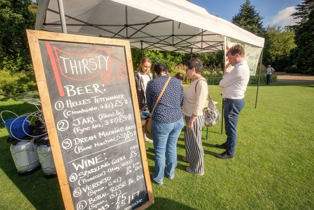 Local beer & wine for sale at Sounds Green