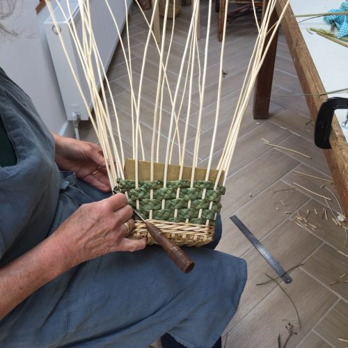 CANCELLED Willow Baskets with Plaited Rush Sides