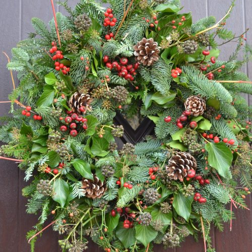 Christmas wreath making: 4 December