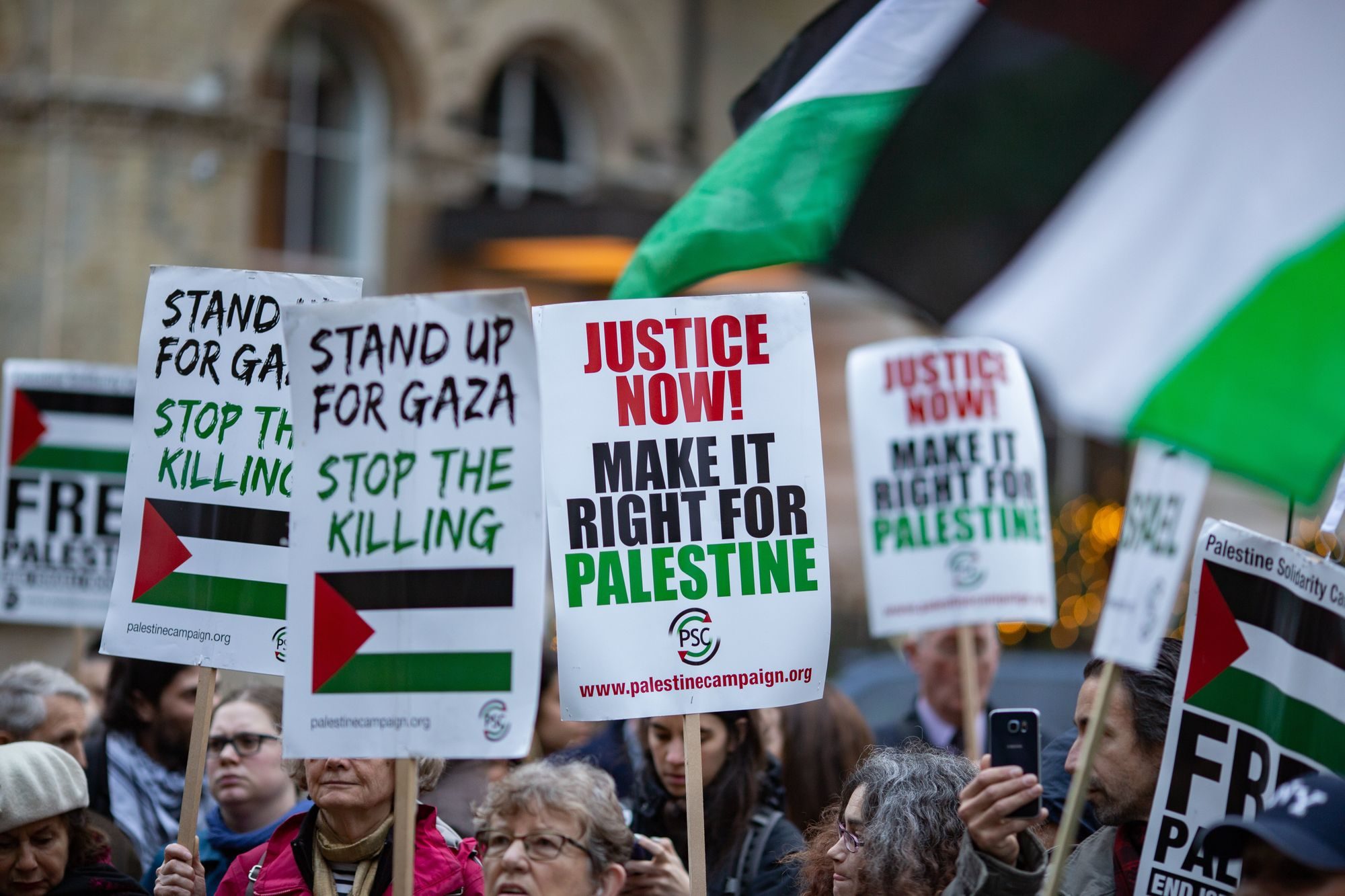 Palestine Solidarity Campaign: Protest at BBC Headquarters in London