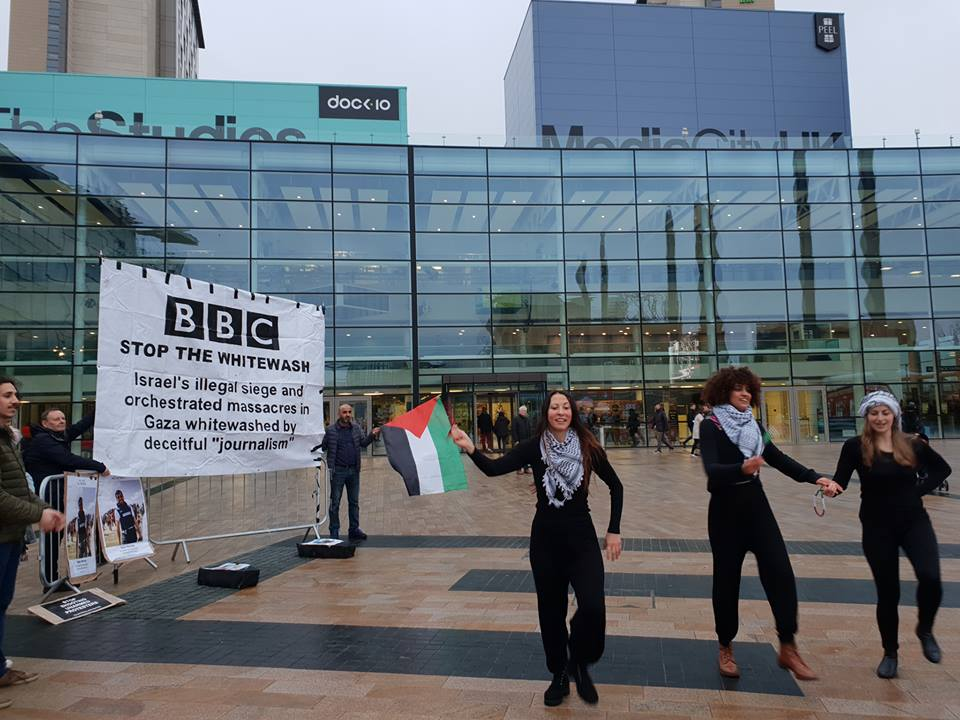 Manchester Palestine Action: Protest at BBC Headquarters in Salford