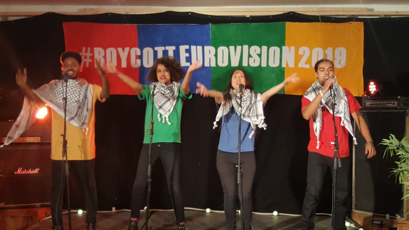 "Cultural Boycott (sung to the tune of Bucks Fizz's 1981 Eurovision Song Contest-winning song ""Making Your Mind Up"")"