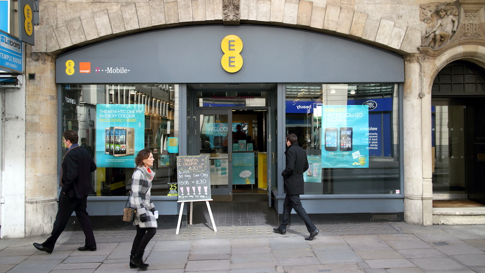 an EE mobile store in London