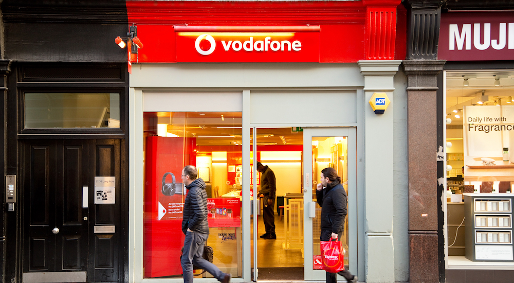 a vodafone shop, yesterday