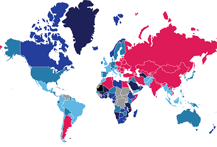 Broadband pricing map