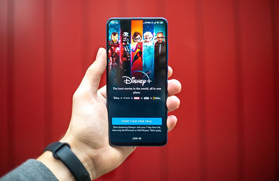 Disney+ App on mobile