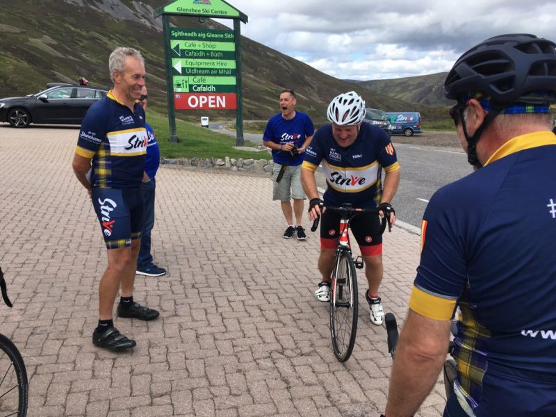 Marty flett and ian stanger loch ness etape