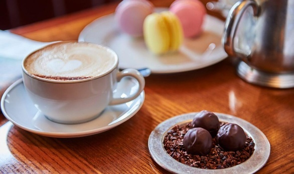 Chocolate Truffles and Coffee at Colbert in Chelsea