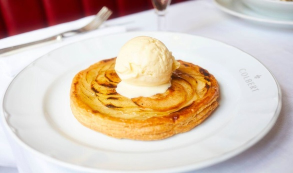 Apple Tart for Dessert at Colbert in Chelsea
